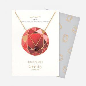 Birthstone Necklace January Garnet