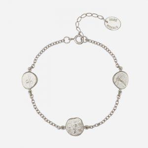Paleontology Nugget Bracelet Silver