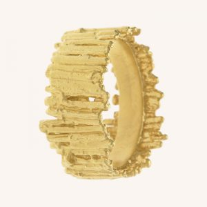 Nest Structure Wide Band Ring Gold