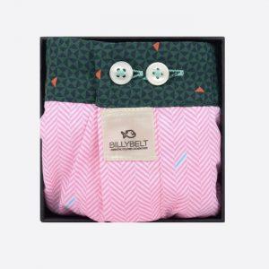 Cotton Boxer Shorts Pink Herringbone