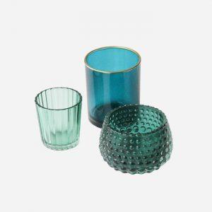 Glass Tea-Light Holder Set