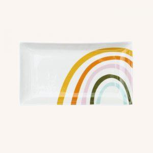 Rainbow Ceramic Trinket Tray