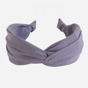 Grey Lilac Wide Twist Headband