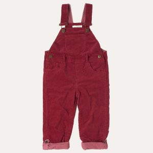 Robin Red Corduroy Dungarees