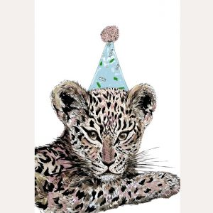 Party Leopard A3 Print