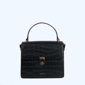 Elody Handbag Black Matt Croco