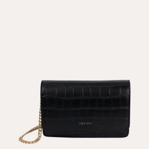 Lottie Handbag Black Matt Croco