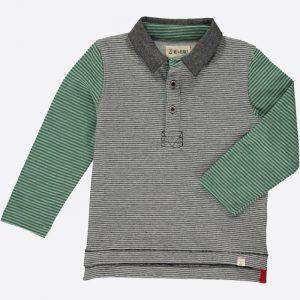 Rugby Shirt Green/Black Stripe