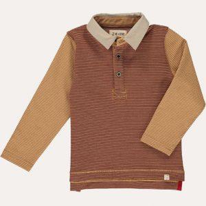 Rugby Shirt Brown/Mustard Stripe