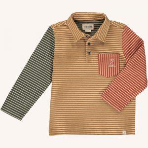 Polo Shirt Mustard/Multi Stripe