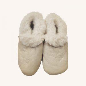 Sheepskin Booties Cream Nappa