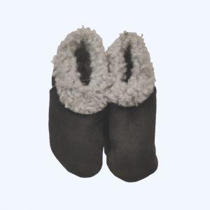 Sheepskin Booties Dark Grey