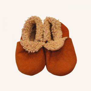 Sheepskin Booties Orange