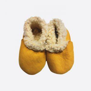 Sheepskin Booties Mustard