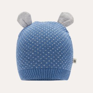 Acacia Knitted Hat With Ears Blue