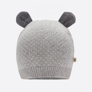 Acacia Knitted Hat With Ears Grey
