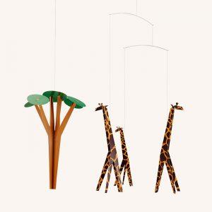 Giraffes On The Savannah Mobile
