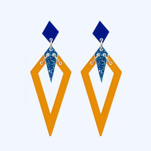 Arrowheads Navy, Mandarin and Blue Glitter