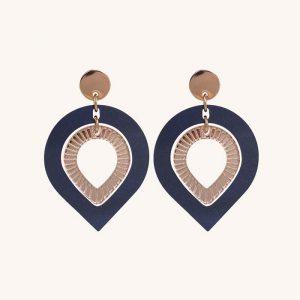 Garbos Navy Pearl and Rose Gold