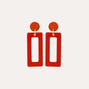 Petite Hemingways Royal Red and Orange