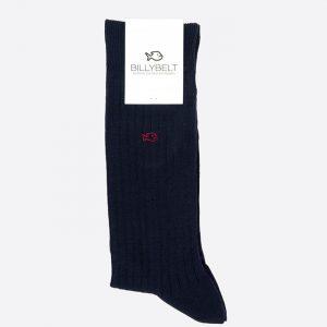 Lisle Socks Navy Blue