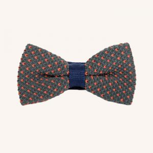 Cotton Bow Tie Grey & Orange