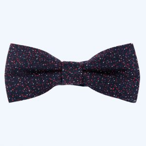 Wool Bow Tie Navy & Red
