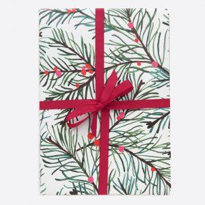 Fir Tree Christmas Gift Wrap