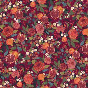 Pomegranates & Roses Christmas Gift Wrap