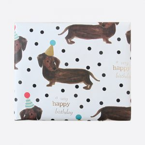Happy Birthday Sausage Dogs Gift Wrap