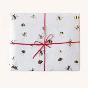 Foil Bee Gift Wrap