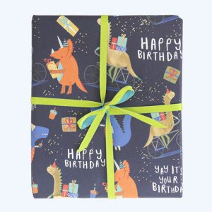 Party Time Dinosaurs Gift Wrap