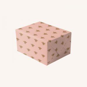 Kew Gardens Bumblebee Pink Gift Wrap