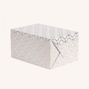 Polo White and Gold Gift Wrap
