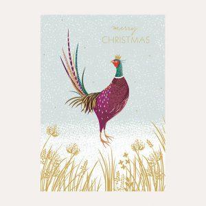 Sara Miller Pheasant Christmas Card