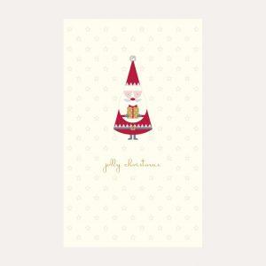 Creme de la Creme Santa Christmas Card