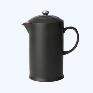Stoneware Cafetiere Satin Black