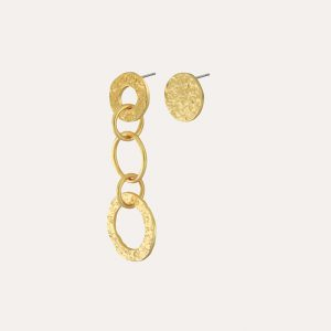 Amber Asymmetrical Earrings Gold