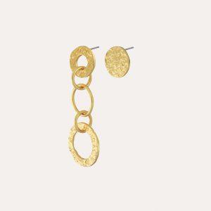 Amber Asymmetrical Earrings Gold