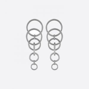 Tabitha Multi-Earring Rhodium