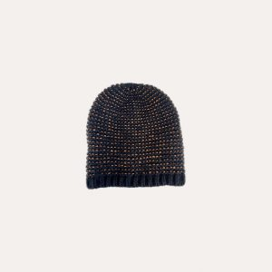 Dina Knitted Hat Black & Copper