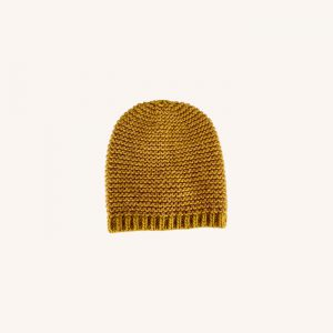 Dina Knitted Hat Mustard Karry