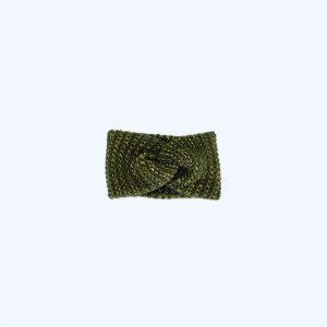 Dina Knitted Headband Army Green & Gold