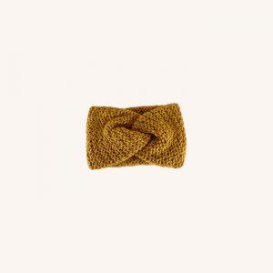 Dina Knitted Headband Mustard Karry