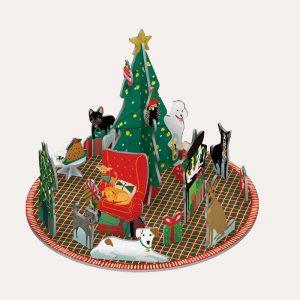 Fireside Dogs 3D Advent Calendar