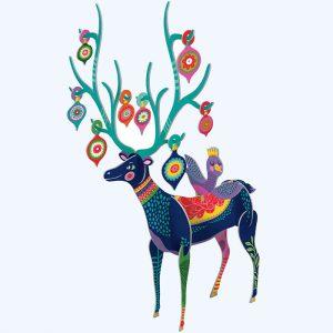 Folksy Reindeer 3D Advent Calendar