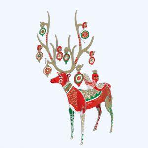 Folksy Reindeer Pop & Slot