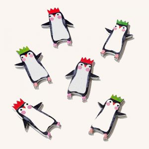 Penguin Parade Wooden Table Scatter