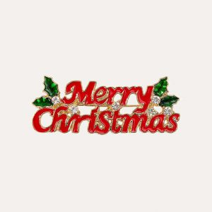 Merry Christmas Enamel Badge