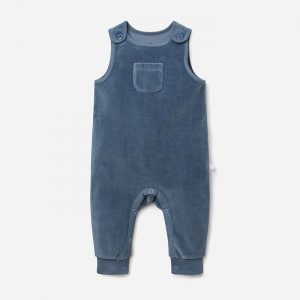 Velour Dungarees Teal